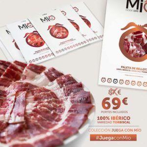 promocion-oferta-paleta-jamon-iberico-Coleccion-Juega con Mio